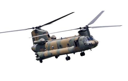 チヌーク CH 47 タンデムローター軍事ヘリコプター 報道画像