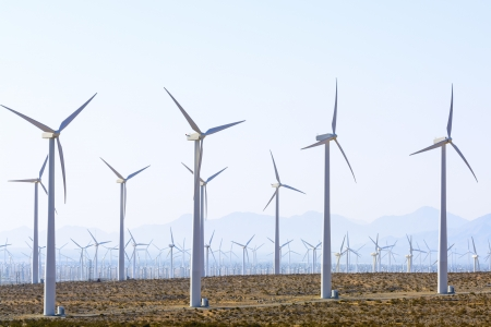 powe: Windfarm near Palm Springs, California.