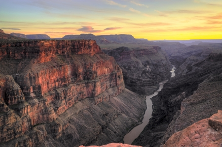 toroweap: HDR image of the Toroweap Overlook on the north rim of the Grand Canyon National Park, Arizona USA