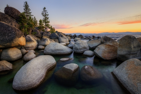 Sand Harbor at Lake Tahoe, Nevada  photo