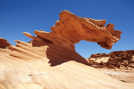 butte: Amazing rock formations of sand stones in Gold Butte, Nevada