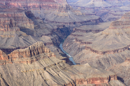 mohave: Colorado River View from Mohave Point Overlook in the Grand Canyon National Park  Stock Photo