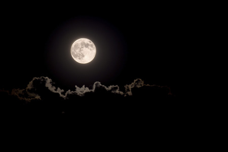 Full Moon on the sky with cloud  Stock Photo