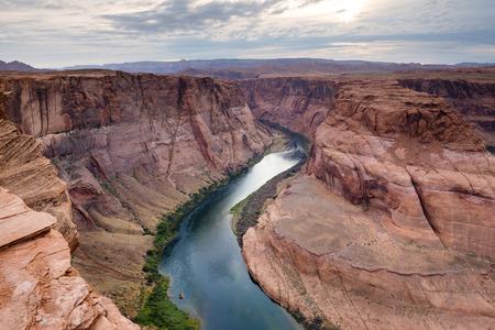 ホースシューベンド、ページ、アリゾナでのコロラド川