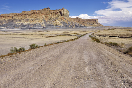 dirt road recreation: Desert dirt road in Glen Canyon National Recreation Area.