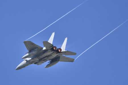 afterburner: Fighter Jet flying with full afterburners.
