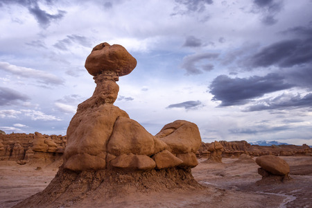 eroded: Goblin Valley State Park, Utah. Stock Photo