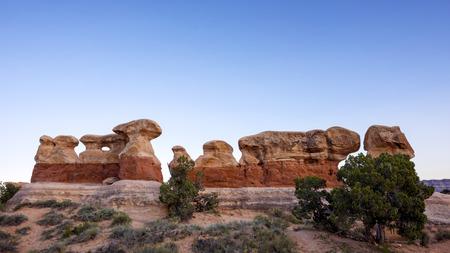 the devils garden: Rock formations in  Devils Garden, Grand Staircase Escalante National Monument, Utah