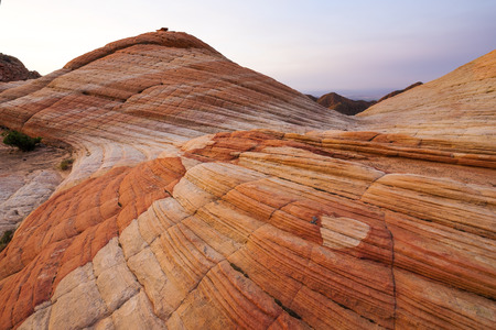 rock strata: Rock Formations at Yant Flat in southern Utah at dawn.