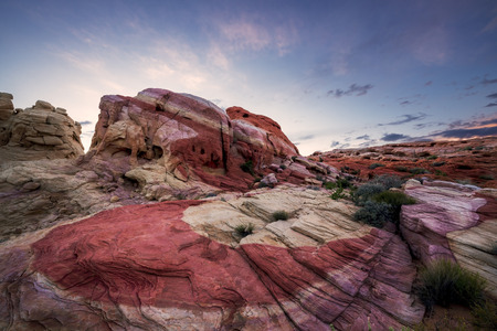 state park: Striped Rock at dusk, Valley of Fire State Park, Nevada