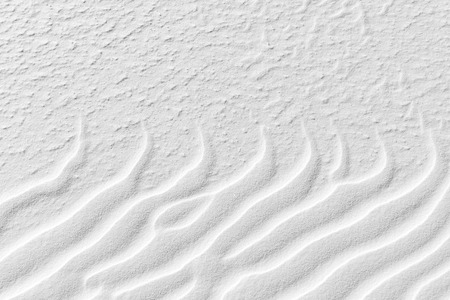 extreme angle: Rippled desert sand in White Sands National Monument, New Mexico.