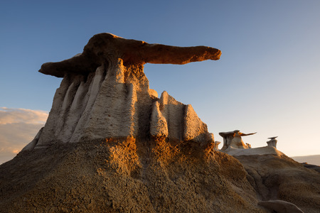 mudstone: The Stone Wings formations in Bisti Wilderness, New Mexico, USA Stock Photo