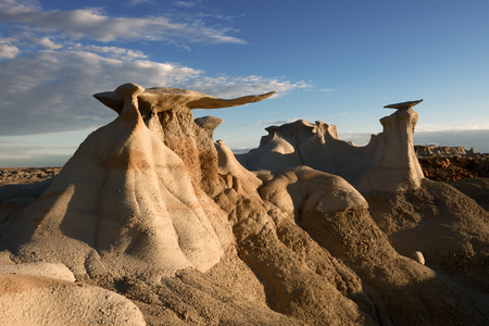 The Stone Wings formations in Bisti Wilderness, New Mexico, USA Stock Photo