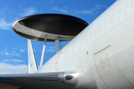 HAMAMATSU, JAPAN - OCTOBER 16, 2016: The E-767 Airborne Warning and Control System (AWACS) displayed  during the Japan Self-Defense Force Air Festa 2016 at HAMAMATSU Air Base on October 16, 2016 in SHIZUOKA Prefecture, Japan. Editorial