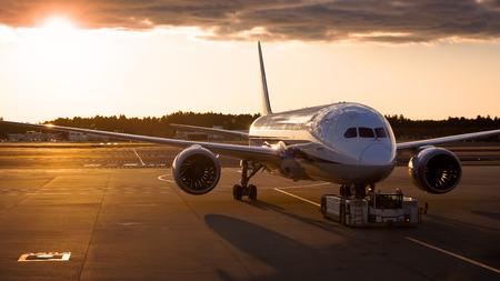 towed: Airplane being towed to runway
