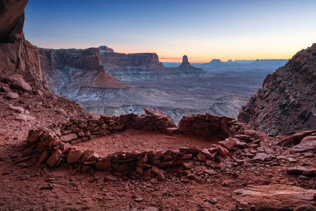 False Kiva Ancient Ruin in, Canyonlands National Park, Utah