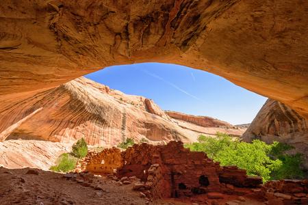 Monarch Cave Anasazi Indian Ruins, Cedar Mesa, Utah Stock Photo