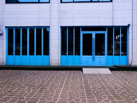 The blue door Zdjęcie Seryjne