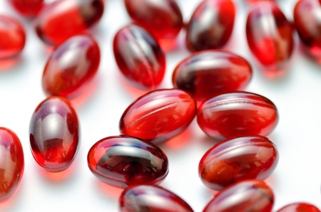 Dietary Supplements. The close-up of a supplement. (Beta-carotene)