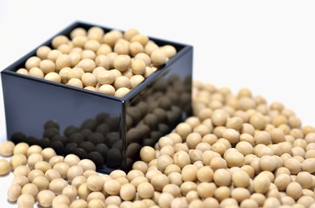 One-go Measure and Soybeans. A soybean is used by an annual event of Japan. Stock Photo - 11967118