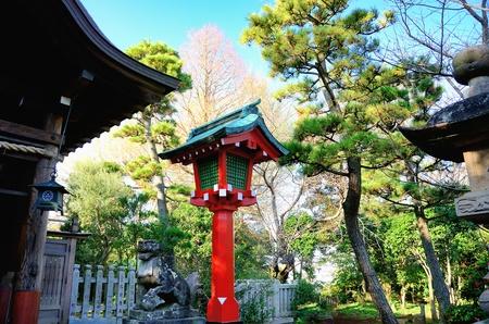 enoshima: Garden Lantern (Tourou). Divine shrine in Japan.