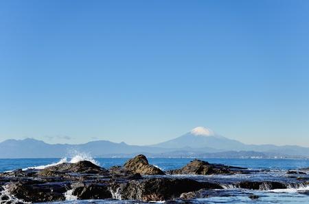Scenery of the Enoshima Chigogafuti. Photograph was taken in winter.