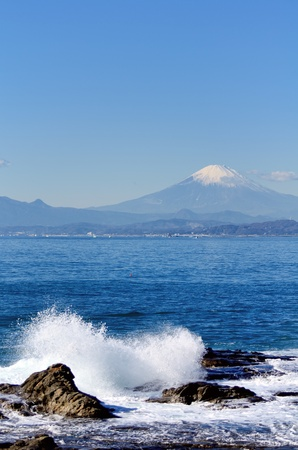 Scenery of the Enoshima Chigogafuti. Photograph was taken in winter.
