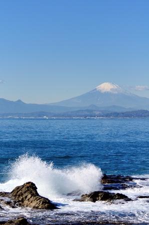Scenery of the Enoshima Chigogafuti. Photograph was taken in winter. Stock Photo - 12606105
