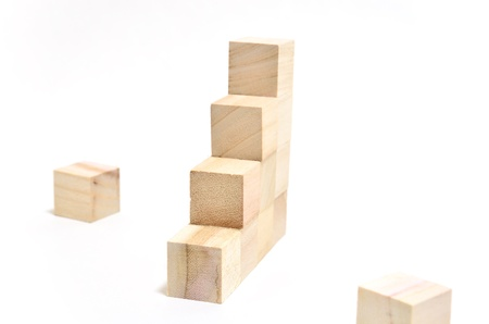 Stairs of square blocks. (on white background) Stock Photo - 13278934