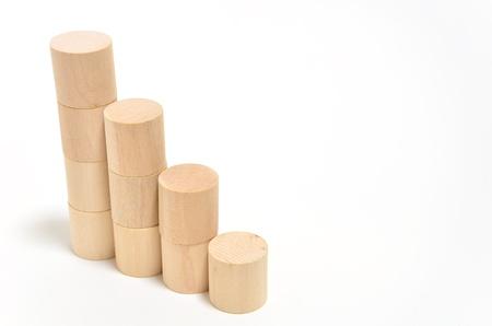 cylindrical: Scale di blocchi in tondo. (Su sfondo bianco)