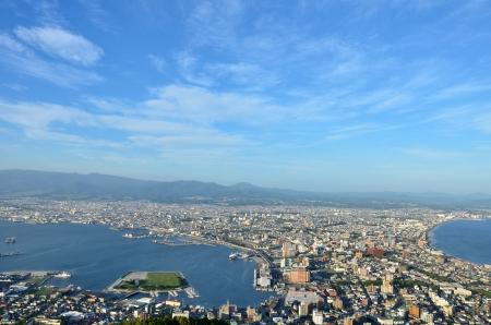 urbanscape: Daytime view of Hakodate, Hokkaido, Japan. Stock Photo