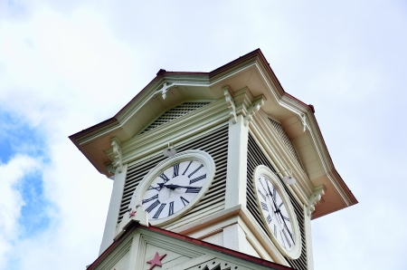 Sapporo city clock tower, in Hokkaido, Japan. Stock Photo