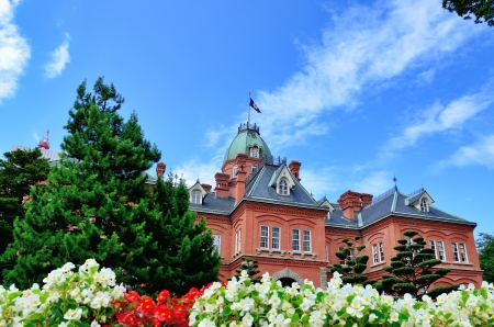 sapporo: Former Hokkaido Government Office Building. (Sapporo, Hokkaido, Japan.) Stock Photo