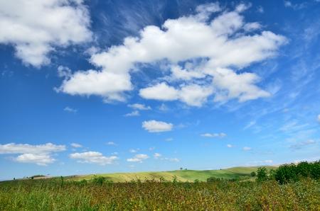 biei: Landscape of Biei, Hokkaido. (Sky and earth)
