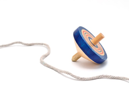 gaily: Koma (spinning top). on white background