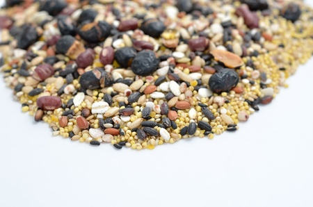 The close-up of mixed rice. (16 kinds of cereals) Stock Photo - 17083272