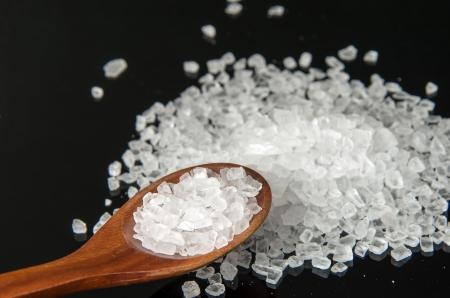 bath additive: Close up of White Himalayan rock salt.