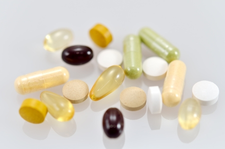 Dietary Supplements. (close up of a supplement.)