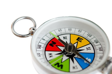 Colorful Compass isolated on white background.