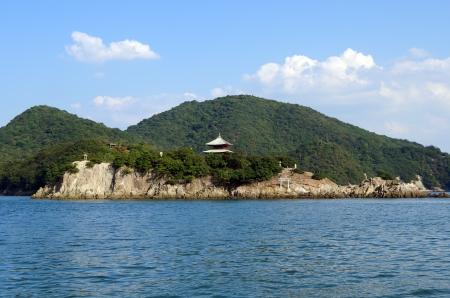 saraswati: Bentenjima in Tomonoura. (in Fukuyama City, Hiroshima Prefecture, Japan) Stock Photo