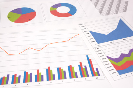 Business performance analysis. Several kinds of business graphs.