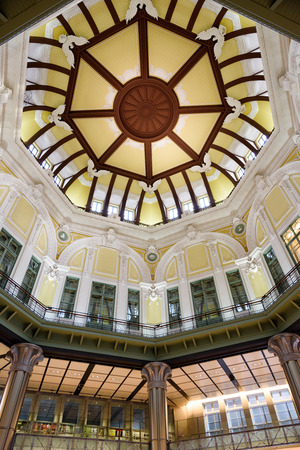 Tokyo Station. Marunouchi north exit station building ceiling. photo