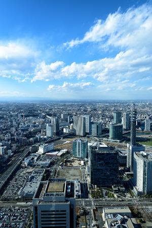 minato: Yokohama Minato Mirai 21. View of Minato Mirai 21 in Yokohama, Japan in autumn.