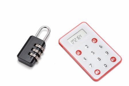 teclado num�rico: One-Time Password Tarjeta Para la banca por Internet en el fondo blanco.