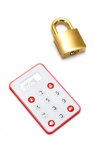 passcode: One-Time Password Card For Internet banking on white background.