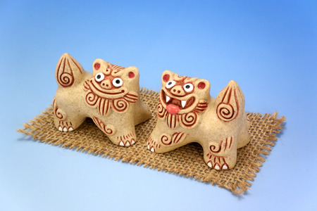 legend: The Shisa. Image of the beast of Okinawa legend.