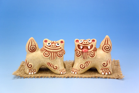 The Shisa. Image of the beast of Okinawa legend.