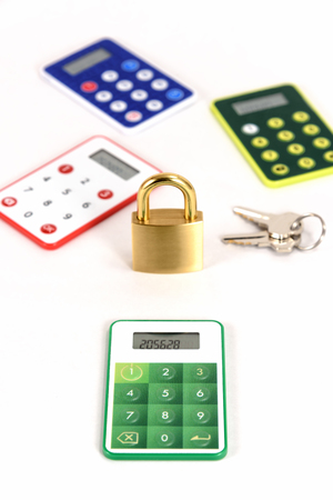 passcode: One Time Password Card For Internet banking on white background.