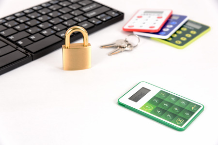 security token: One Time Password Card For Internet banking on white background.