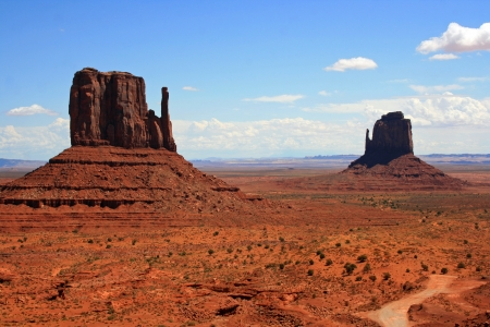 Two monuments in Monument Valley Stock Photo